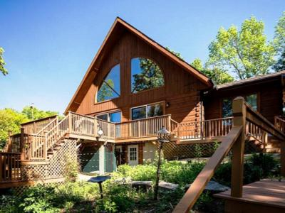 Waterfront Log Home